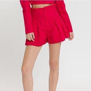 Endless Rose   Red High Waist Poplin Shorts Sz XS